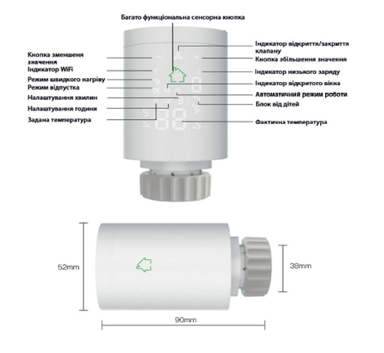 Термостат радиаторной беспроводной Tervix ProLine EVA2 (термоголовка) 228731 - 1