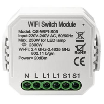 Умный дом: выключатель Tervix Pro Line WiFi Switch (1 клавиша / розетка) реле для скрытого монтажа - 1