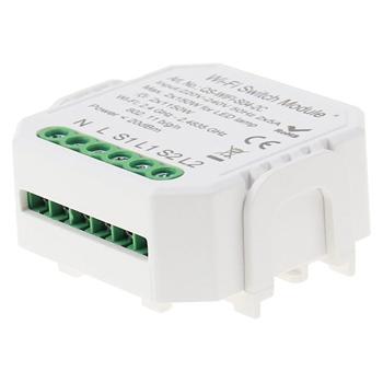 Умный дом: выключатель Tervix Pro Line WiFi Switch (2 клавиши) реле для скрытого монтажа - 2