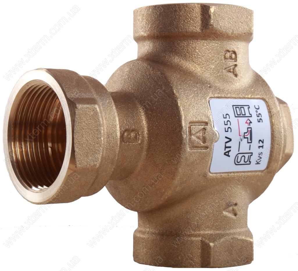 """3-ходовой термический клапан Afriso ATV334 T=50°C Rp 1"""" Kvs 9 - 2"""