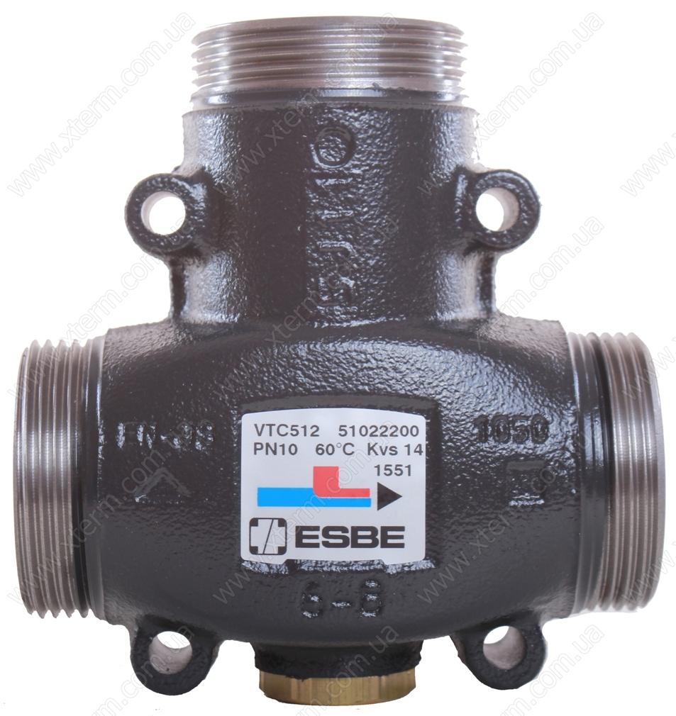 """ESBE VTC512 3-ходовой термический клапан T=50°C G 1 1/4"""" Kvs 9 - 1"""