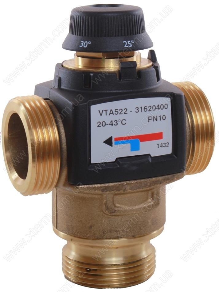 """Термостатический клапан 1"""" ESBE VTA522, с защитой от ожогов для ГВС 50-75°C G1"""" DN20 kvs 3,2 31620300 - 1"""