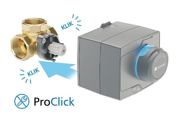 """ProClick комплект: 3-ход. клапан ARV384 Rp 1"""" и привод ARM323 3-точки, 230В, 60 сек - 2"""