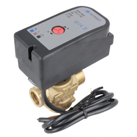 """Трехходовой зонный переключающий клапан Afriso AZV642 DN15, G3/4"""", kvs 8, 230В АС 2 точки, c кабелем - 1"""