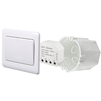 Умный дом: выключатель - регулятор Tervix Pro Line ZigBee Dimmer (1 клавиша) реле для скрытого монтажа - 1