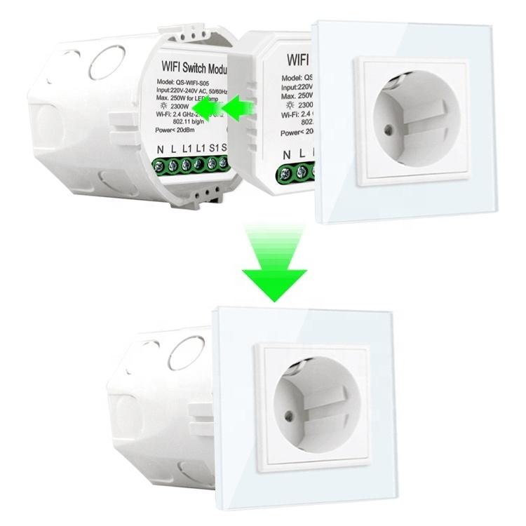 Умный дом: выключатель Tervix Pro Line ZigBee Switch (1 клавиша) без нуля, реле для скрытого монтажа - 3