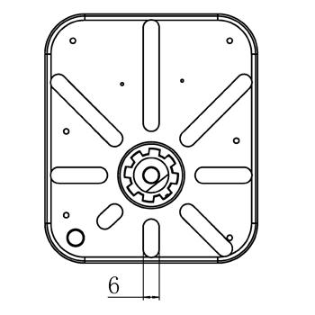 """Комплект: трехходовой поворотный смесительный клапан TOR 1 1/2"""", DN 40 и привод AZOG 3-точки, 124 сек, 8 Нм 230В - 6"""