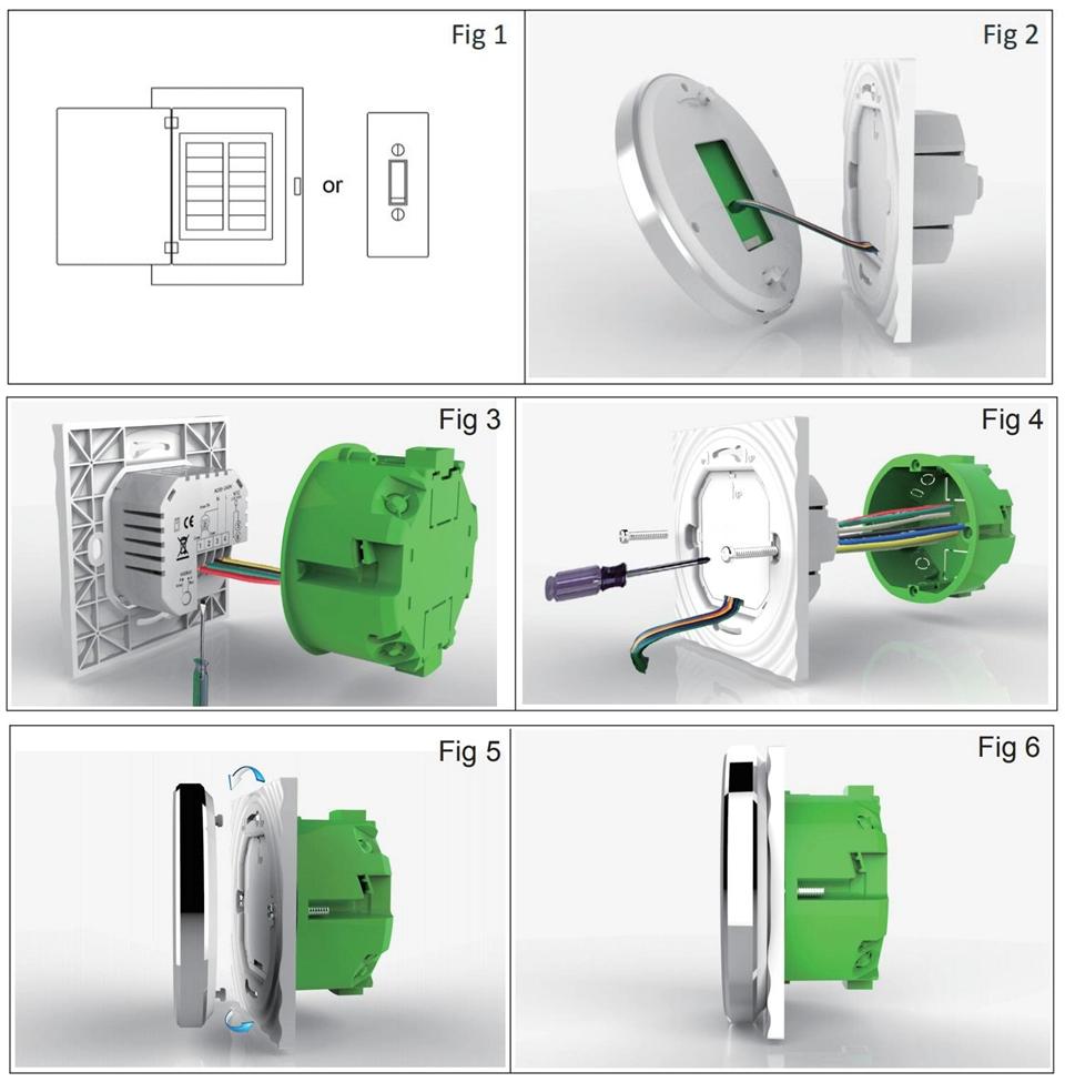 Умный дом: WIFI комнатный термостат для водяного / электрического теплого пола Tervix, датчик 3м, черный - 6