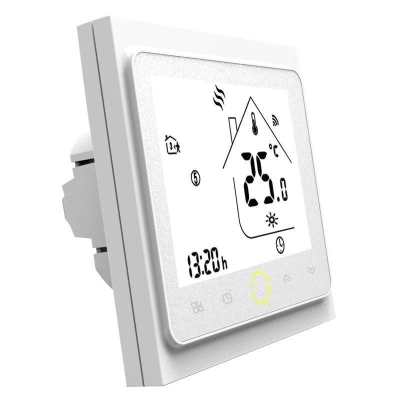 Умный дом: ZigBee термостат для водяного/электрического теплого пола Tervix, программируемый с датчиком 3м  117131 - 1