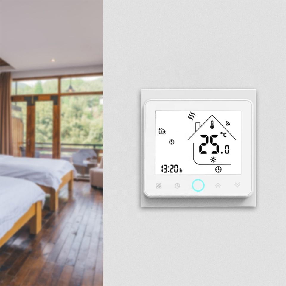 Умный дом: ZigBee термостат для водяного/электрического теплого пола Tervix, программируемый с датчиком 3м  117131 - 5