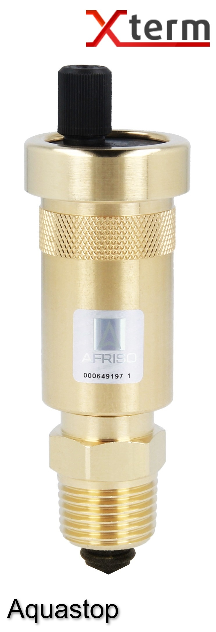 """Автоматический воздухоотводчик Afriso 1/2""""х3/8"""" c отсечным клапаном, защита от утечки Aquastop, латунь - 3"""