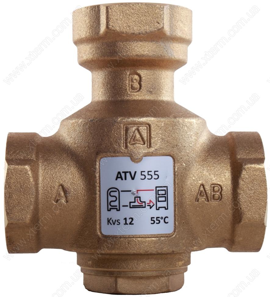 """Трехходовой термический клапан Afriso ATV555 T=55°C Rp 1 1/4"""" Kvs 12 - 1"""