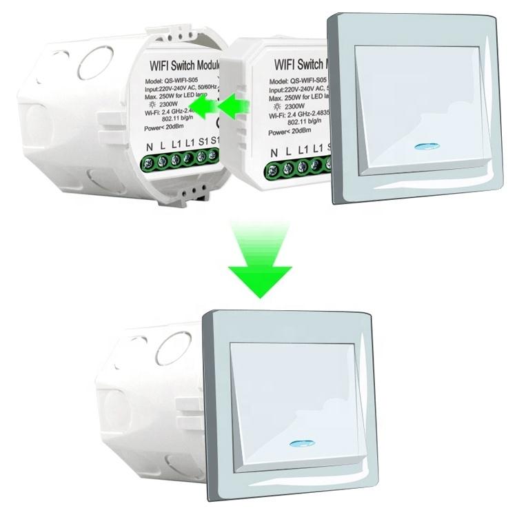 Умный дом: выключатель Tervix Pro Line WiFi Switch (1 клавиша / розетка) реле для скрытого монтажа - 6