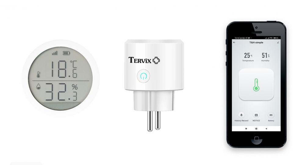 Комплект умного дома: контроль температуры и влажности в детской Tervix ZigBee с управлением увлажнителем - 4