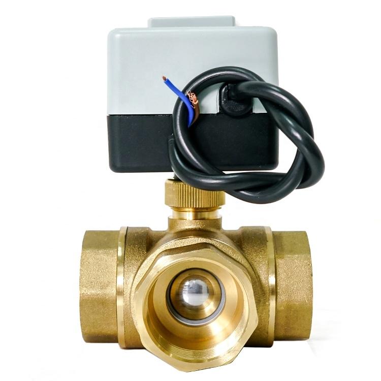 """3-ходовой шаровой клапан н/в  3/4"""" DN20 с электроприводом Tervix Pro Line ORC 3-way 202122 - 1"""