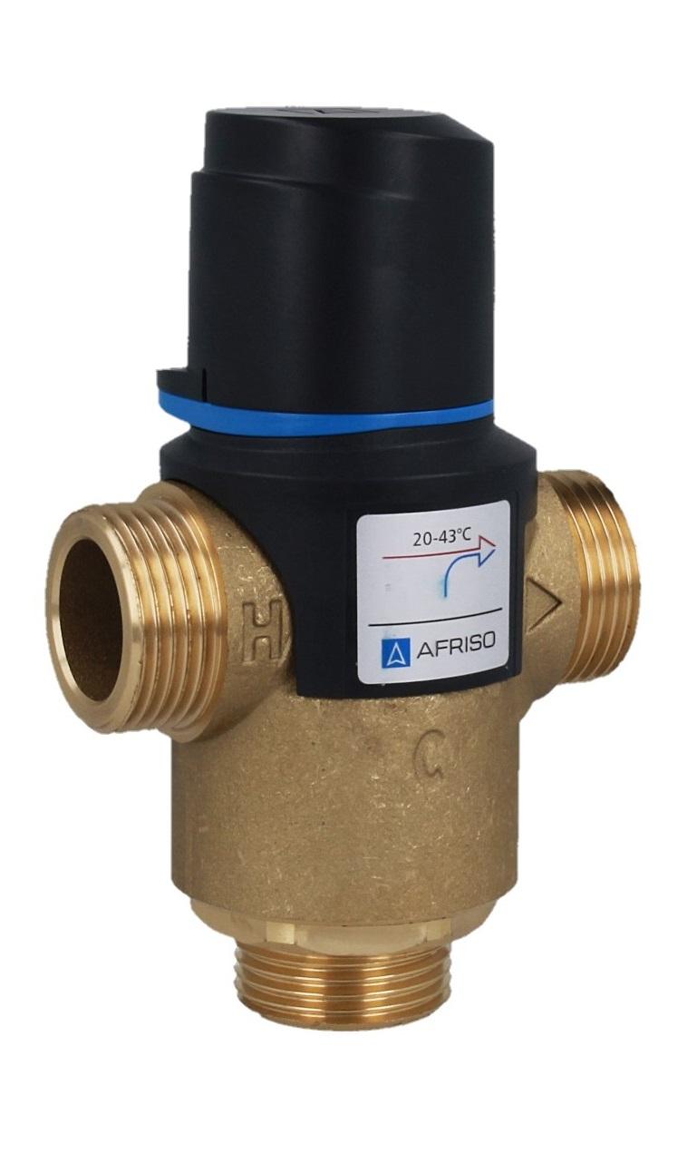 """Термостатический клапан 1"""" Afriso ATM761 на теплый пол T=20-43°C G 1"""" DN 20 Kvs 3,2 1276110 - 4"""