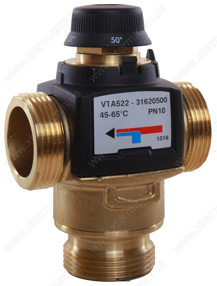 """ESBE VTA522 Термостатический смесительный клапан T=45-65°C G 1 1/4"""" Kvs 3,5 - 1"""
