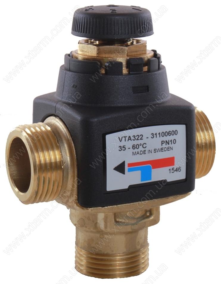 """Термостатический клапан 3/4"""" ESBE VTA322 с защитой от ожогов для ГВС T=35-60°C G 3/4"""" DN 15 Kvs 1,5 31100600 - 1"""