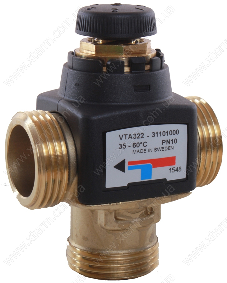 """ESBE VTA322 Термостатический смесительный клапан T=35-60°C G 1"""" Kvs 1,6 - 1"""