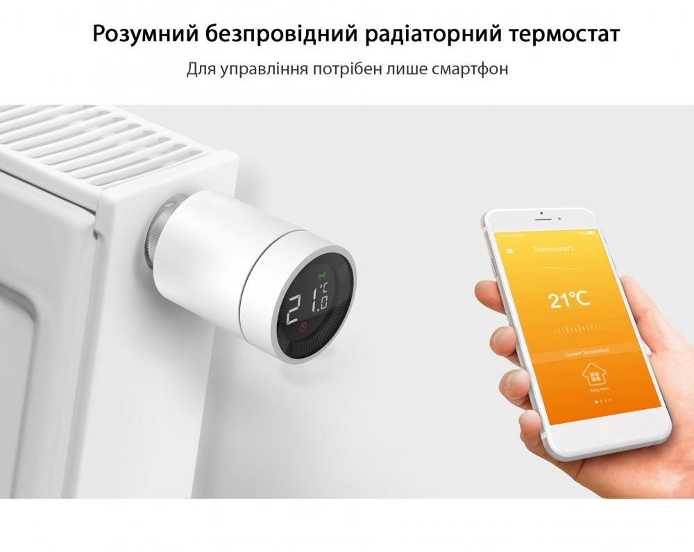 Умный дом: беспроводная термоголовка для радиаторов Tervix Pro Line EVA для умного дома, беспроводная ZigBee - 10