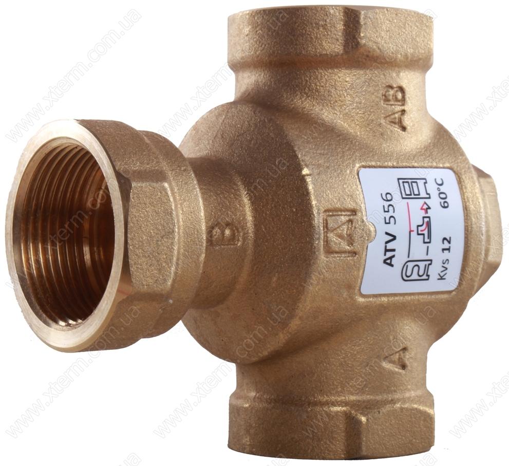 """Трехходовой термический клапан Afriso ATV556 T=60°C Rp 1 1/4"""" Kvs 12 - 2"""