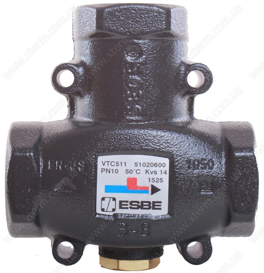 "ESBE VTC511 3-ходовой термический клапан T=50°C Rp 1 1/4"" Kvs 14 - 1"