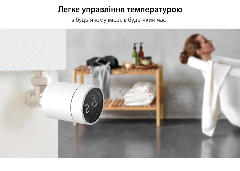 Умный дом: беспроводная термоголовка для радиаторов Tervix Pro Line EVA для умного дома, беспроводная ZigBee - 12