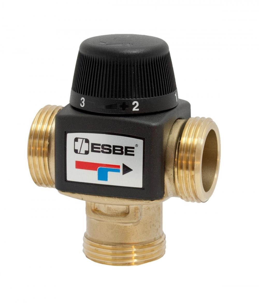 "Термостатический клапан 1"" ESBE VTA372 на теплый пол, радиаторы T=20-55°C G 1"" DN20 Kvs 3,4 31200100 - 4"