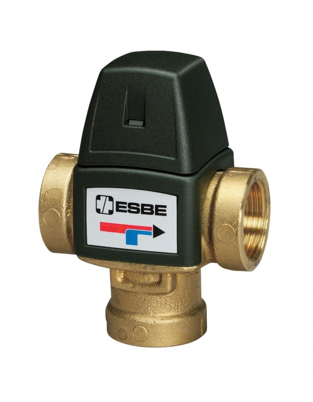 """Термостатический клапан 3/4"""" ESBE VTA321 с защитой от ожогов для ГВС T=35-60°C Rp 3/4"""" DN 20 Kvs 1,6 31100800 - 3"""