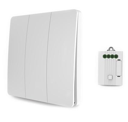 Умный дом: беспроводной кинетический выключатель Tervix Pro Line RF 433 MHz Switch (3 клавиши) - 2