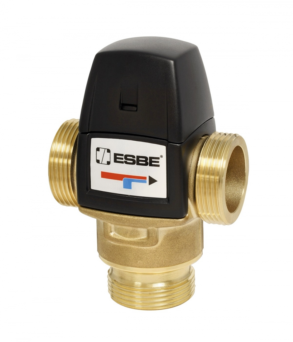 """Термостатический клапан 1"""" ESBE VTA522, с защитой от ожогов для ГВС 50-75°C G1"""" DN20 kvs 3,2 31620300 - 6"""